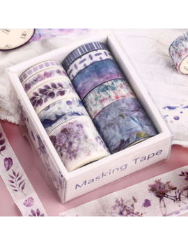 10-pcs_box-fantasy-ocean-beautiful-flowers-plants-leaves-washi-tape-diy-decoration-for-scrapbooking-masking-tape-adhesive-tape by aliexpresscom