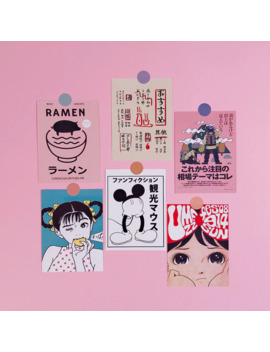 Japanese Retro Comic Book Style Oversized Sticker Room Wall Decoration Sticker Hand Account Book Card Postcard Decoration by Ali Express.Com