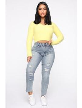Get To The Point Straight Leg Jeans   Medium Blue Wash by Fashion Nova