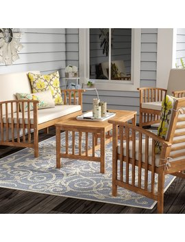 Alcazar 4 Piece Sofa Seating Group With Cushions by Lark Manor