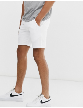 Asos Design Jersey Skinny Shorts In White by Asos Design
