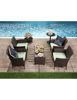 Leer 6 Piece Multiple Chairs Seating Group With Cushions by Charlton Home