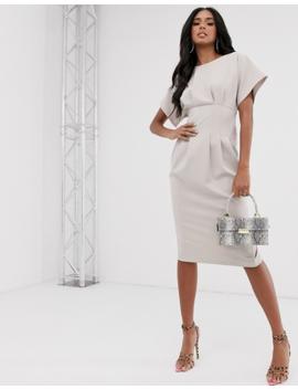 Asos Design Nipped In Waist Midi Pencil Dress by Asos Design
