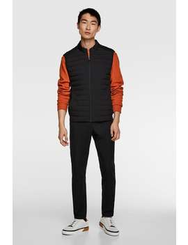 Combined Quilted Gilet Jacketsman by Zara