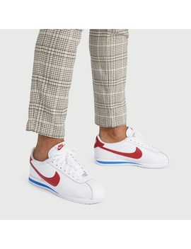 Men's Classic Cortez Sneakers In White by Little Burgundy