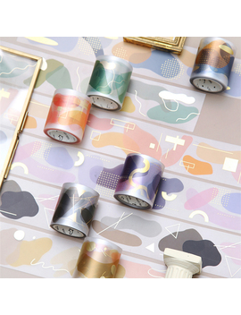 4cm*5m Color Matte Bronzing Pet Washi Tape Diy Decoration Scrapbooking Planner Masking Tape Adhesive Tape Kawaii Stationery by Ali Express.Com
