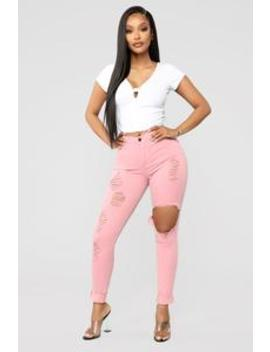 Glistening Jeans   Mauve by Fashion Nova