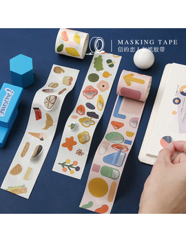 40 Cm Wide Fun Geometry Flowers Washi Tape Adhesive Tape Diy Scrapbooking Sticker Label Masking Tape by Ali Express.Com