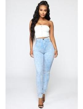 I Do Whatever I Like High Rise Jeans   Blue by Fashion Nova