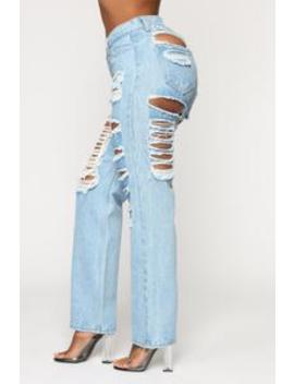 Not Your Play Thing Boyfriend Jeans   Medium Blue Wash by Fashion Nova