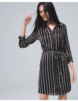 Stripe Shirt Dress by Whbm