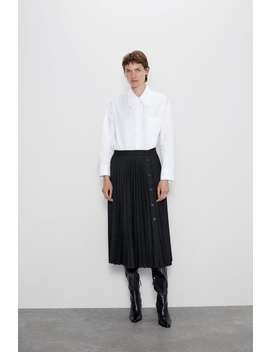 Pleated Buttoned Skirt View All Skirts Woman by Zara
