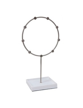 Circle Jewelry Stand White/Brushed Nickel   88 Main® by 88 Main®