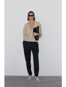 Top With Voluminous Sleeves Topswoman by Zara