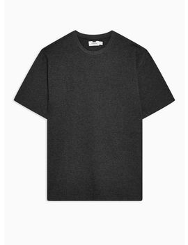 Charcoal Gray Marl Oversized T Shirt by Topman