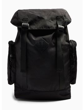 Black Ripstop Backpack by Topman