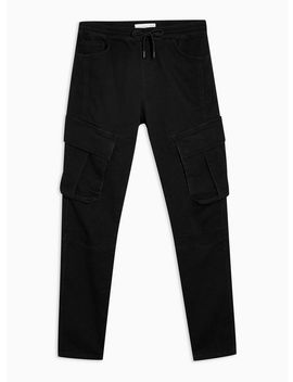 Black Cargo Denim Joggers by Topman