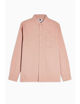 Pink Long Sleeve Twill Shirt by Topman