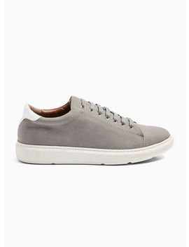 grey-faux-suede-drill-sneakers by topman
