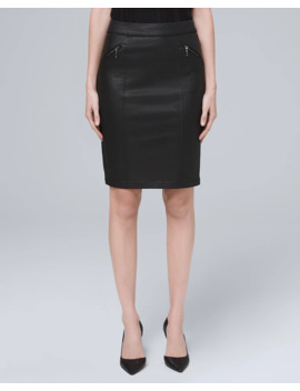 Coated Pencil Skirt by Whbm