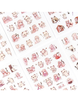 6 Pcs/Pack Girls And Cat Decorative Stationery Stickers Scrapbooking Diy Diary Album Stick Lable by Ali Express.Com