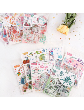 Mohamm Cat Flower Diary Deco Mini Paper Decorative Space Calendar Cute Stickers Scrapbooking Journal Flakes Stationery by Ali Express.Com