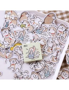 45 Pcs/Box Animal Cute Shiba Inu Pet Dog Mini Decoration Paper Sticker Decoration Diy Album Diary Scrapbooking Label Sticker by Ali Express.Com