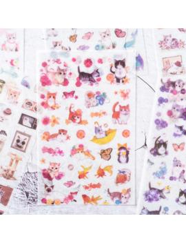6 Pcs/Pack Soft Breeze Cat Paper Sticker Decoration Diary Scrapbooking Label Sticker Kawaii Japanese Stationaries Stickers by Ali Express.Com