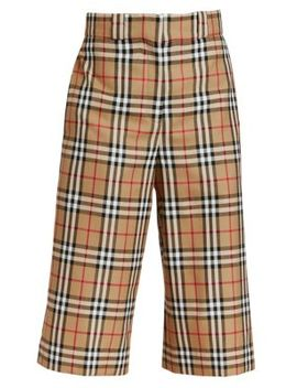 Osney Check Culottes by Burberry