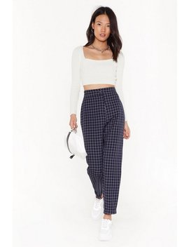 Ms Mini Window Pane Check Tapered Pants by Nasty Gal