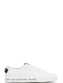 White Basse Tennis Light Sneakers by Givenchy