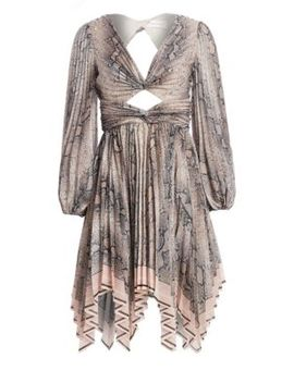 Corsage Python Print Pleated Dress by Zimmermann
