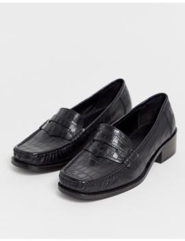 Asos Design Marley 90's Loafer Flat Shoes In Black by Asos Design