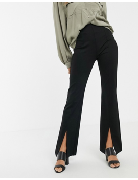 & Other Stories Split Hem Flared Pants In Black by & Other Stories