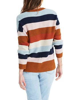Thompson Rainbow Stripe Pocket Pullover Sweater by Madewell
