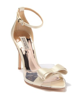 Lindsay Ankle Strap Top Bow Sandal by Badgley Mischka