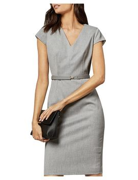 Michaud Belted Sheath Dress by Ted Baker