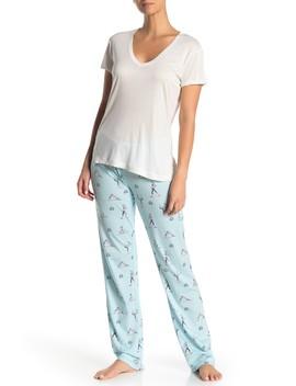Printed Pajama Pants by Pj Salvage