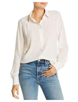 Pintucked Button Down Silk Shirt by Rag & Bone
