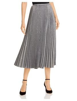 Jahira Pleated Midi Skirt by Lafayette 148 New York