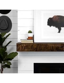 Rough Hewn Fireplace Mantel Shelf by Dogberry Collections