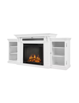 Calie Electric Fireplace Entertainment Center White By Real Flame   N/A by Real Flame