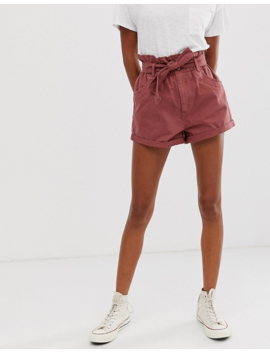 Abercrombie & Fitch Denim Shorts With Paperbag Waist by Abercrombie & Fitch