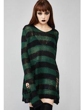 Eternal Nightmare Distressed Sweater by Widow
