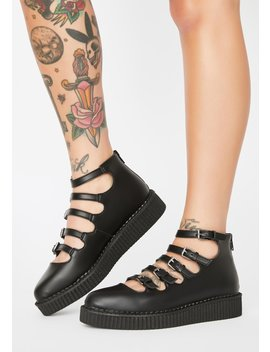 Mary Jane Buckle Creepers by T.U.K.