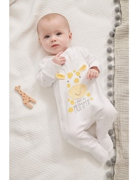 white-i-love-my-mummy-giraffe-sleepsuit-(0-18mths) by next