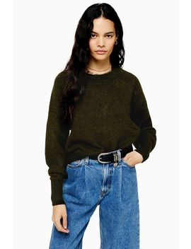 Khaki Super Soft Jumper by Topshop