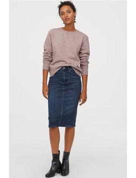 Shaping Denim Pencil Skirt by H&M