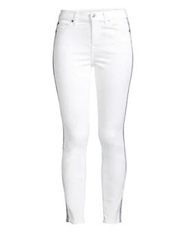 Side Stripe Skinny Ankle Jeans by 7 For All Mankind