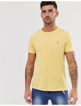 Polo Ralph Lauren – Icon – Gelbes T Shirt In Regulärer Custom Passform Mit Verwaschenem Design Und Logo by Asos